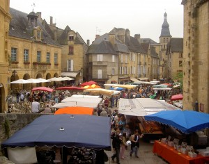 The Market in Sarlat, The Perigord, France