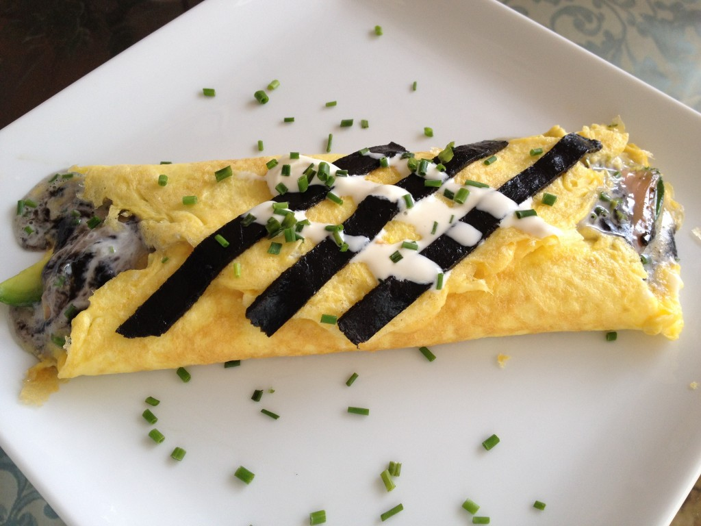 Omelet with Pressed Caviar