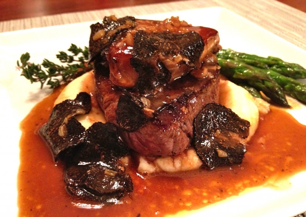 Tournedos Rossini with Wagyu beef, foie gras and black truffles