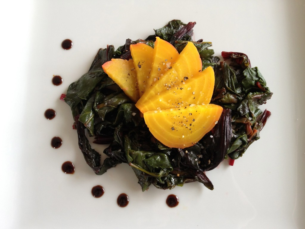 Beets with white truffle oil and aged balsamic vinegar