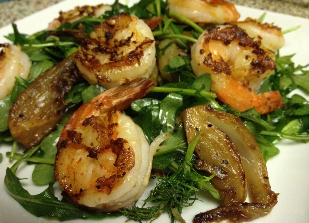 Prawn and Fennel Salad with Black Truffle Vinaigrette