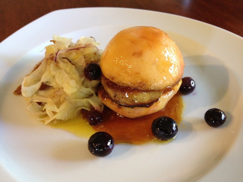 Foie Gras Recipes: Foie Gras Hamburger with Fennel Date Slaw